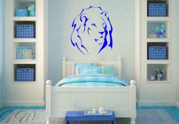 wandtattoo l we ihre majest t der k nig der tiere von. Black Bedroom Furniture Sets. Home Design Ideas