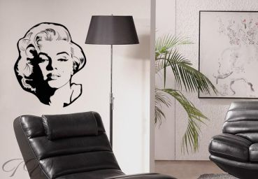 wandtattoo marilyn monroe ein muss f r fans bei top wandtattoo. Black Bedroom Furniture Sets. Home Design Ideas